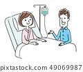 Hospitalized wife and husband 49069987