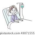 Senior woman being hospitalized 49071555