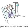 被住院的資深婦女 49071556