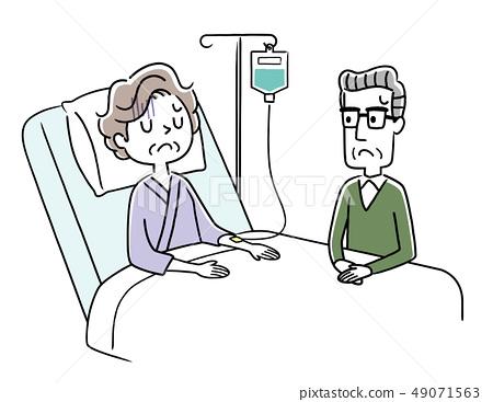 투병중인 아내 걱정하는 남편 49071563