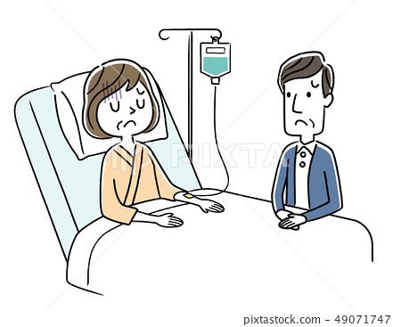战斗的妻子和担心的丈夫 49071747
