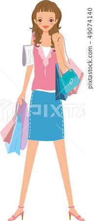 쇼핑을하는 여성 49074140