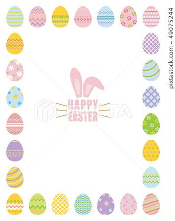Easter Easter Egg Frame Material 49075244