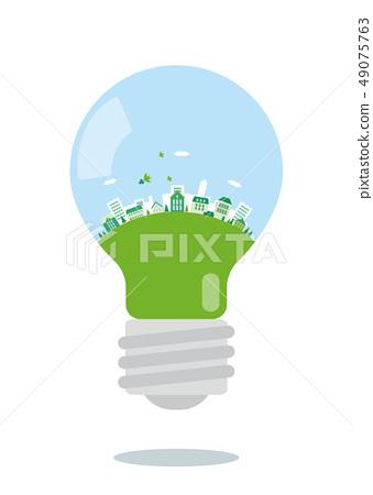 Eco風景都市風景電燈泡 49075763