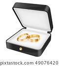 Wedding rings in a black jewelry box 49076420