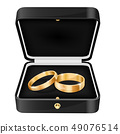 Wedding rings in a black jewelry box 49076514