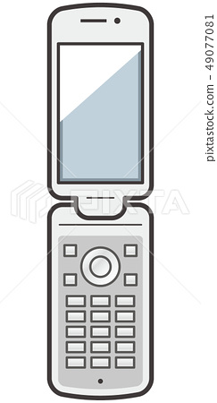 접이식 휴대 전화의 이미지 일러스트 49077081