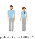 man and woman character in cozy dress 49082773