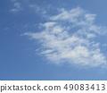 3月藍天和白色雲彩 49083413