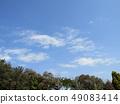 3月藍天和白色雲彩 49083414