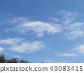 3月藍天和白色雲彩 49083415