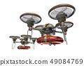救援无人机(带浮筒和透明材料) 49084769