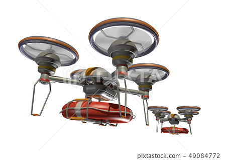 Rescue drone (with floats and transparent material) 49084772