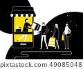 Shopping online concept - flat design style illustration 49085048