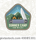 Summer camp patch. Be wild. Vector. Concept for shirt or badge, overlay, print, stamp or tee 49085301