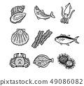各種海鮮單色 49086082