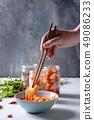 Korean appetizer kimchi 49086233