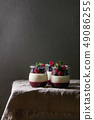 Panna cotta with berries 49086255
