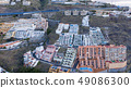 Top view of a coast. The buildings of the island 49086300