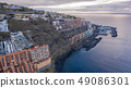 Top view of a coast. The buildings of the island 49086301