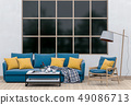 interior modern living room with sofa 49086713