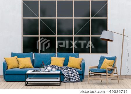 interior modern living room with sofa 49086713