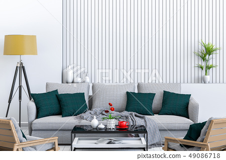 interior modern living room with sofa 49086718