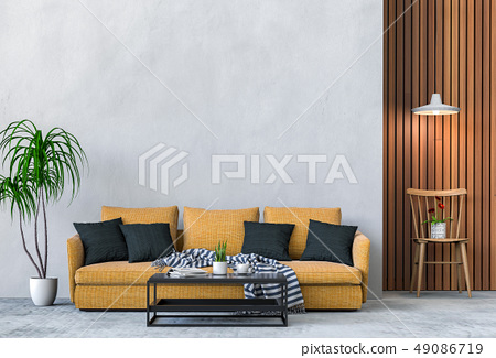 interior modern living room with sofa 49086719