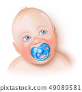 Cute baby with pacifier 49089581