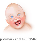 Cute baby is laughing 49089582