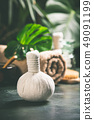 SPA composition on tropical background, close up 49091199