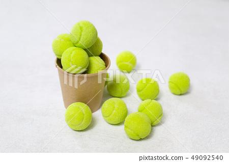 Tennis balls background 49092540