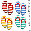 Set of stripe sandal 49095530