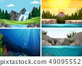Set of nature scenes 49095552