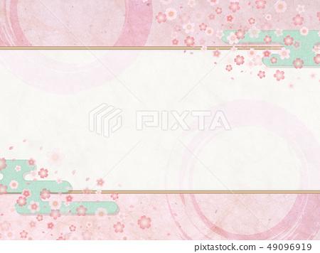 日本現代櫻花粉紅色背景材料 - 春天 49096919