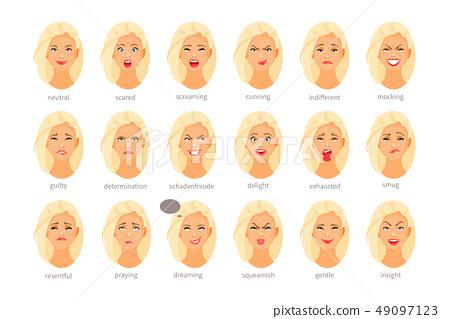 Emotions and feelings vector, part II 49097123