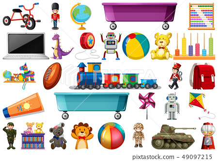 Set of children toys 49097215
