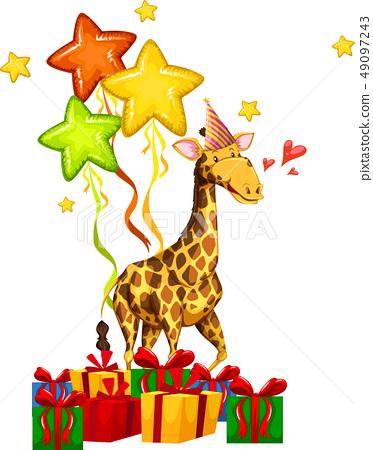 happy party giraffe concept 49097243