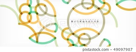 Curly lines abstract background, color overlapping linear texture 49097987