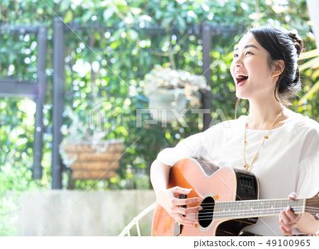 吉他 女生 女孩 49100965