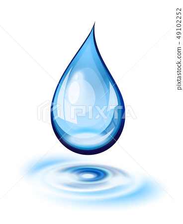 Water drop icon 49102252
