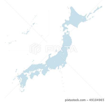 블루 도트 맵 일본 열도 중간 크기 2 49104965