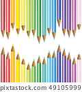 set of colored pencils in rainbow colors 49105999