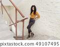 stair, female, woman 49107495