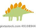 เวกเตอร์ไดโนเสาร์เตโกซอรัสน่ารักคับวัสดุ 49108944