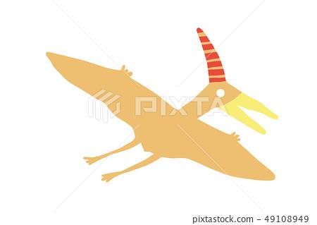 วัสดุเวกเตอร์ Pteranodon ไดโนเสาร์น่ารักคับ 49108949