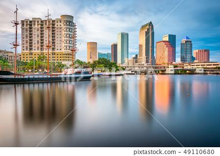 Tampa, Florida, USA downtown skyline on the bay 49110680