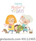 Three generations of women of different ages from child to young adult mother and senior grandmother 49112465
