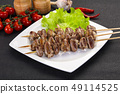 Chicken hearts skewer 49114525