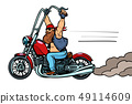 biker on chopper, motorcycle transport 49114609